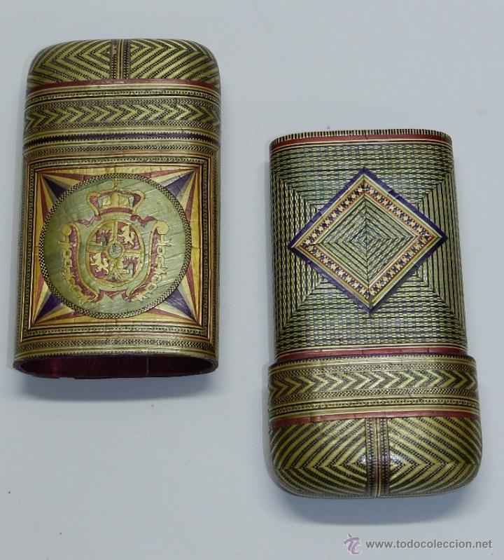 Cajas de Puros: PHILIPPINES ANTIGUA TABAQUERA REALIZADO POR ENCARGO, SIGLO XVIII O XIX, DE FILIPINAS, CON ESCUDO - Foto 2 - 45842437