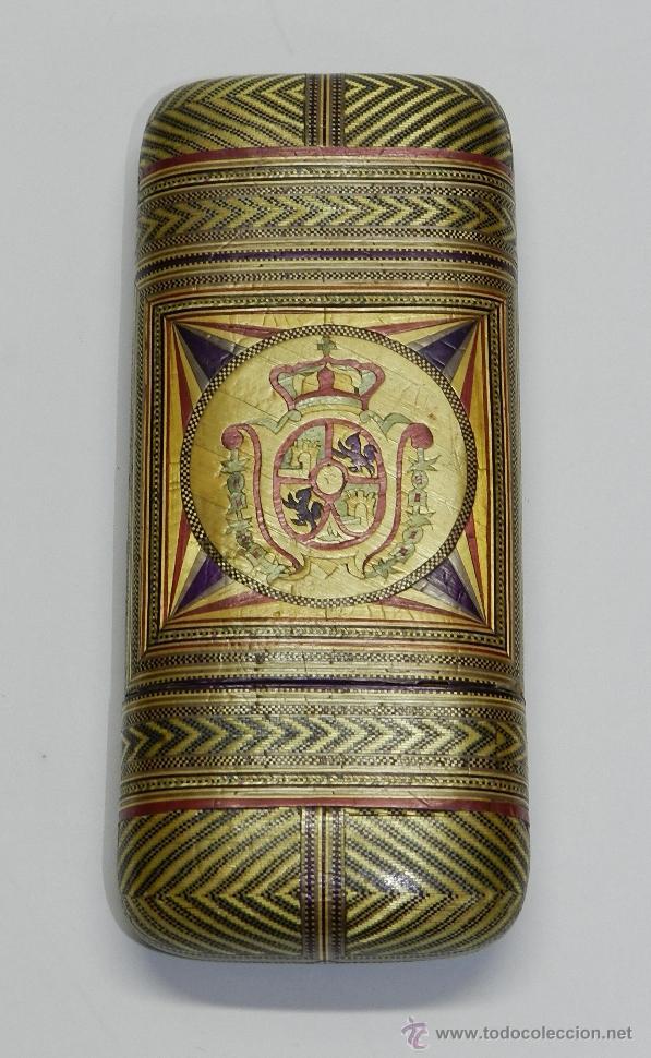 Cajas de Puros: PHILIPPINES ANTIGUA TABAQUERA REALIZADO POR ENCARGO, SIGLO XVIII O XIX, DE FILIPINAS, CON ESCUDO - Foto 3 - 45842437
