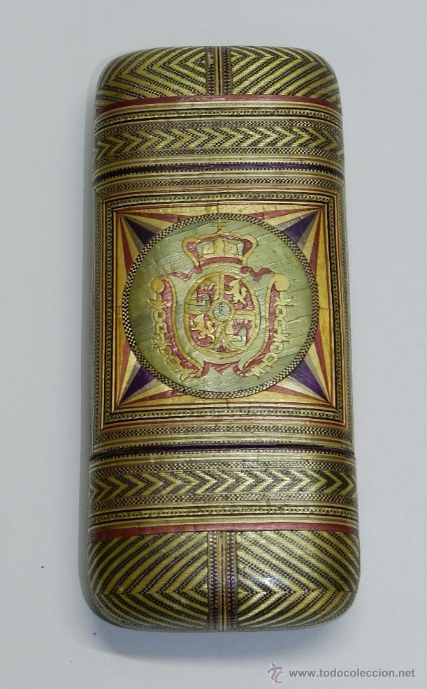 Cajas de Puros: PHILIPPINES ANTIGUA TABAQUERA REALIZADO POR ENCARGO, SIGLO XVIII O XIX, DE FILIPINAS, CON ESCUDO - Foto 4 - 45842437