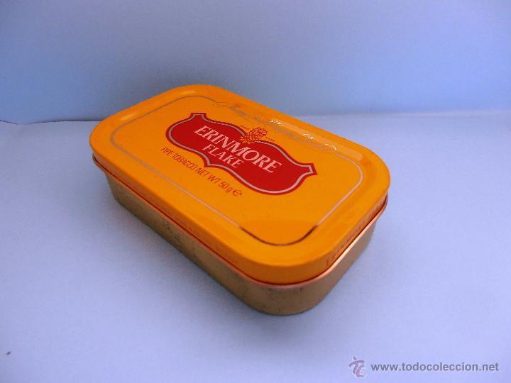 Cajas de Puros: Caja rectangular metálica Erinmore Flake. Murray Sons. Belfast. 1989 VACIA #FV-R - Foto 3 - 45928687
