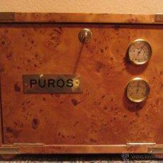 Cajas de Puros: HUMIDIFICADOR PUROS MADERA DE RAIZ. BUEN ESTADO. CAJA DE PUROS . Lote 46398366