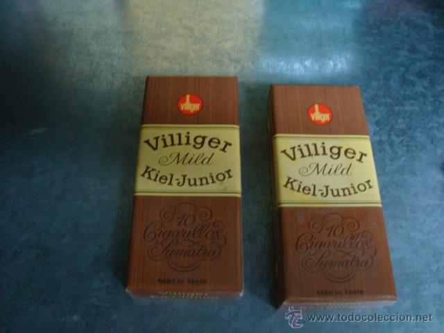 LOTE 2 CAJETILLAS PUROS VILLIGER SUMATRA ANTIGUOS(SIN ABRIR) (Coleccionismo - Objetos para Fumar - Cajas de Puros)