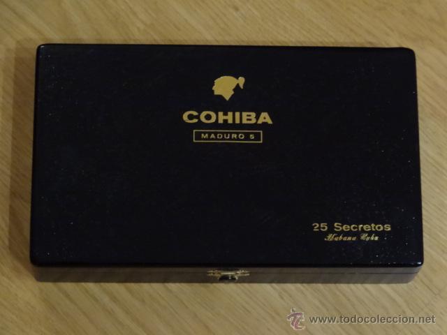 CAJA PUROS HABANOS COHIBA - MADURO 5 - 25 SECRETOS (Coleccionismo - Objetos para Fumar - Cajas de Puros)