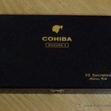 Cajas de Puros: CAJA PUROS HABANOS COHIBA - MADURO 5 - 25 SECRETOS. Lote 74356742