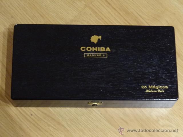 CAJA PUROS HABANOS COHIBA - MADURO 5 - 25 MAGICOS (Coleccionismo - Objetos para Fumar - Cajas de Puros)