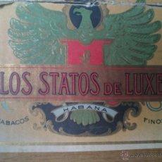 Cajas de Puros: CAJA PUROS TABACO, LOS STATOS DE LUXE. Lote 46712618