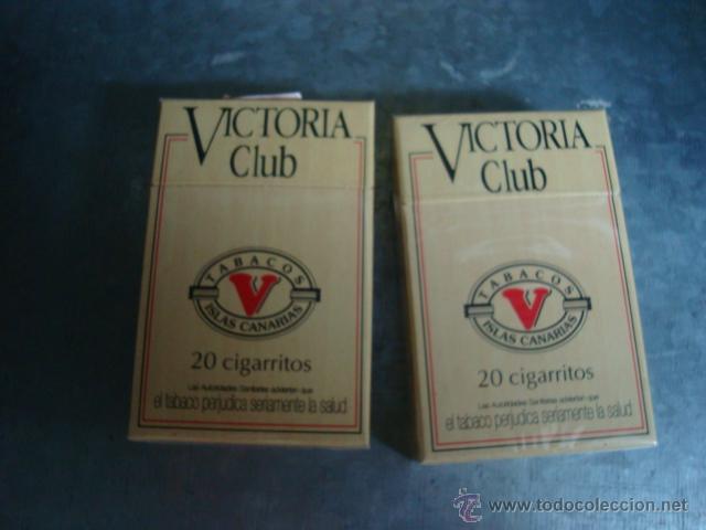 LOTE DE DOS CAJETILLAS DE PUROS VICTORIA CLUB ....ANTIGUOS (Coleccionismo - Objetos para Fumar - Cajas de Puros)