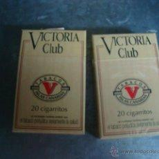 Cajas de Puros: LOTE DE DOS CAJETILLAS DE PUROS VICTORIA CLUB ....ANTIGUOS. Lote 71961781