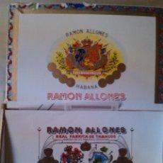 Cajas de Puros: CAJA PUROS HABANOS RAMON ALLONES HABANA CUBA TORCIDO EXCLUSIVO PARA ESPAÑA 21,5 X 13 X 3 CM Nº 1763/. Lote 46968635