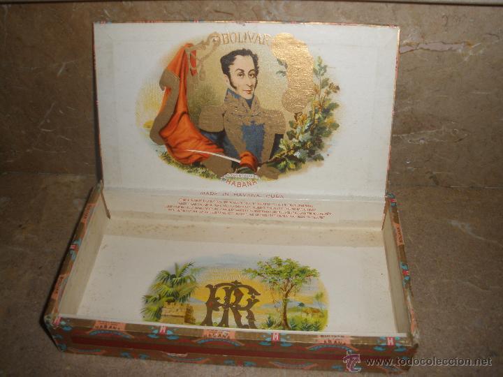 CAJA DE PUROS CUBANOS BOLIVAR HABANA - VACIA -VER FOTOS ADICIONALES. (Coleccionismo - Objetos para Fumar - Cajas de Puros)