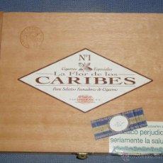 Cajas de Puros: CAJA DE PUROS LA FLOR DE LOS CARIBES Nº1. Lote 47546927