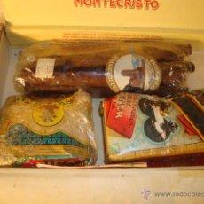 Cajas de Puros: LOTE COLECCION DE PUROS Y TABACO DE LIAR EN CAJA MONTECRISTO. Lote 48591792