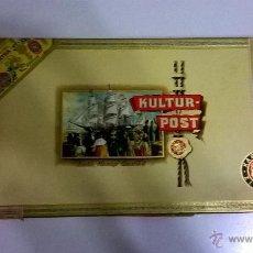 Cajas de Puros: CAJA DE CIGARROS PUROS CASI COMPLETA, KARL FEISST ZIGARREN (NO FUMABLES, SECOS). Lote 48840404