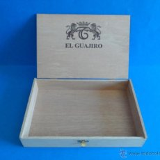Cajas de Puros: CAJA DE MADERA DE PUROS EL GUAJIRO - Nº 5 - CAJA VACÍA. Lote 49573838