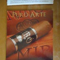 Cajas de Puros: CARTON PUBLICITARIO TABACO - TABAQUERA PURO ARTE MIRO , PUROS 30,5 X 21,5. Lote 49616764