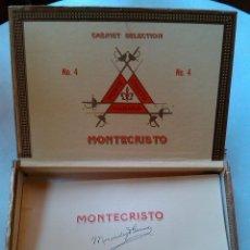Cajas de Puros: CAJA PUROS CABINET SELECTION MONTECRISTO MENENDEZ Y GARCIA CUBATABACO HABANA CUBA AÑOS 80 . Lote 49768520