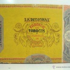 Cajas de Puros: ANTIGUA CAJA DE PUROS MADERA - LA REGIONAL - FABRICA JOSE HERRERA- LAS PALMAS - 25 TROPICAL TABACO . Lote 50933635
