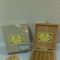 Cajas de Puros: ESTUCHE DE PUROS EN MADERA Y CAJA .HABANOSSELECCION DE ROBUSTOS. CUBA. Lote 51046799