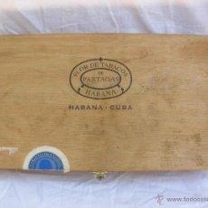Cajas de Puros: CAJA DE PUROS VACÍA HABANOS PARTAGAS CUBA. Lote 51330831