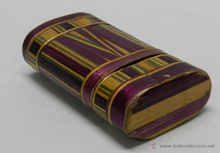 PHILIPPINES ANTIGUA TABAQUERA REALIZADO EN EL SIGLO XVIII O XIX, DE FILIPINAS, ELABORADA MICRO- (Coleccionismo - Objetos para Fumar - Cajas de Puros)