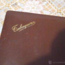 Cajas de Puros: TABAQUERA ANTIGUA - CAJA DE MADERA Y PIEL PARA PUROS, CIGARRILLOS - 28X17X6. Lote 51650120