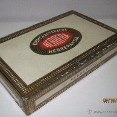 Cajas de Puros: ANTIGUA CAJA VACIA DE 25 CIGARROS PUROS *HERRERITAS* DE HERRERA FAC. DE TABACOS DE ISLAS CANARIAS. Lote 51892114