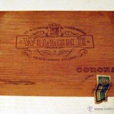 Cajas de Puros: CAJA VACIA DE PUROS WILLEM - CORONA. Lote 52968328