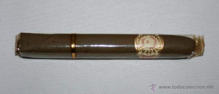 ANTIGUO PURO CHICOTES EXTRA DE TENISCA, PRECINTADO CON VITOLA - VINTAGE (Coleccionismo - Objetos para Fumar - Cajas de Puros)