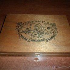 Cajas de Puros: CAJA DE PUROS DE MADERA PALMEROS ESPECIALES (CANARIAS) RICHARD, 25 CAMPEONES (SÓLO CAJA SIN PUROS) . Lote 53246072
