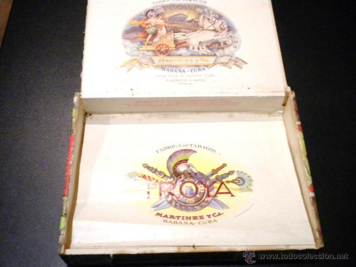 Cajas de Puros: Caja de puros / Fabrica de tabacos martinez y ca. / habana cuba / 25 universales - Foto 2 - 53790421