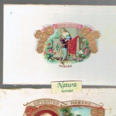 Cajas de Puros: TAPA CAJA PUROS CIFUENTES HABANA Y ROMEO Y JULIETA.. Lote 53826937