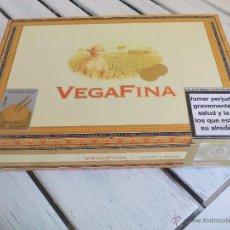 Cajas de Puros: CAJA VACIA, DE MADERA CIGARROS. VEGAFINA. 25 CORONAS. TABACO HABANOS PUROS. 23X16 CM REP DOMINICANA. Lote 53850327
