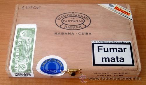 CAJA VACIA DE PUROS PARTAGÁS Nº. 4 (Coleccionismo - Objetos para Fumar - Cajas de Puros)