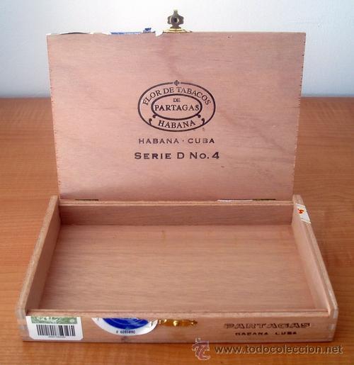 Cajas de Puros: CAJA VACIA DE PUROS PARTAGÁS Nº. 4 - Foto 3 - 213926485