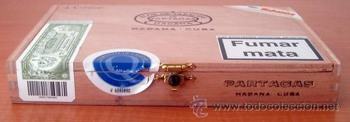 Cajas de Puros: CAJA VACIA DE PUROS PARTAGÁS Nº. 4 - Foto 4 - 213926485