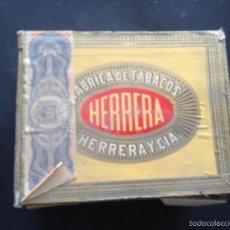 Cajas de Puros: CAJA HERRERA Y CIA. CAJA DE PUROS FABRICA DE TABACOS HERRERA Y CIA. CAJA DE TABACO.. Lote 55161901