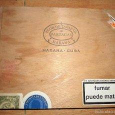 Cajas de Puros: CAJA PUROS PARTAGAS CUBA FLOR DE TABACOS LA HABANA. Lote 55388699