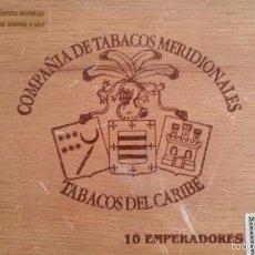 Cajas de Puros: CAJA DE MADERA DE PUROS 10 EMPERADORES VACIA. Lote 56114899