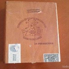 Cajas de Puros: CAJA DE MADERA DE PUROS 25 PRESIDENTES VACIA. Lote 56115091