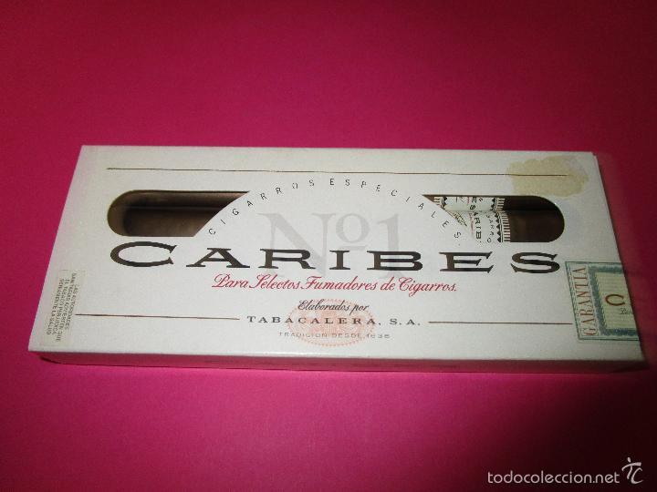 ANTIGUA PETACA PUROS CARIBES(SIN USAR) (Coleccionismo - Objetos para Fumar - Cajas de Puros)