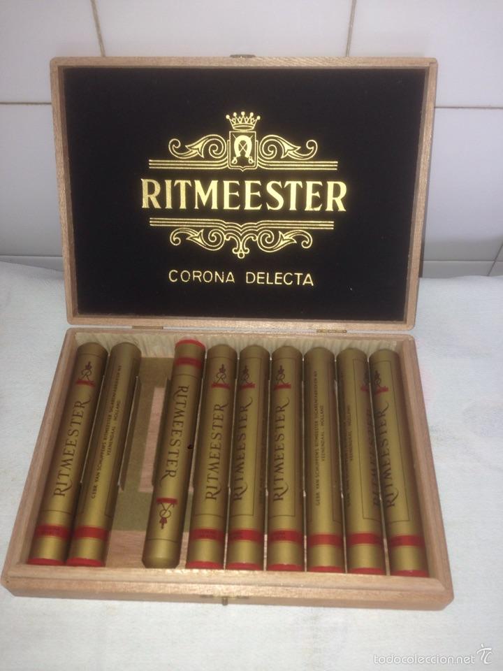 CAJA DE PUROS RITMEESTER CORONA DELECTA (Coleccionismo - Objetos para Fumar - Cajas de Puros)