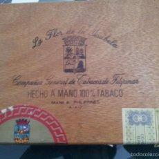 Cajas de Puros: CAJA PUROS LA FLOR DE LA ISABELA. MANILA. Lote 57451747