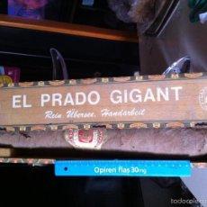 Cajas de Puros: HABANO- PURO (NG) IMPRESIONANTE HABANO EL PRADO CON CAJA PURO 45 CM LONGITUD. Lote 57737256