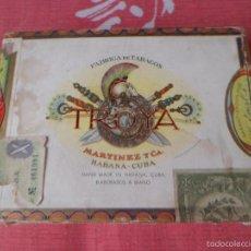 Cajas de Puros: CAJA DE PUROS TROYA. MARTÍNEZ Y CÍA. HABANA. CUBA. Lote 57844150