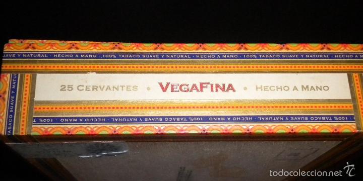 Cajas de Puros: caja de puros / vegafina / 25 cervantes hecho a mano - Foto 5 - 57910795
