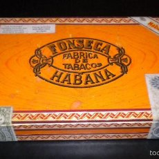 Cajas de Puros: CAJA DE PUROS FONSECA / FABRICA DE TABACOS / HABANA / 25 COSACOS. Lote 57971247