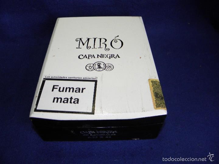 CAJA DE PUROS CAPA NEGRA DE MIRÓ (Coleccionismo - Objetos para Fumar - Cajas de Puros)