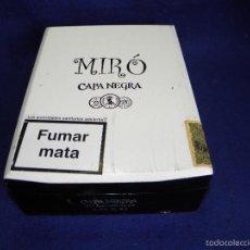 Cajas de Puros: CAJA DE PUROS CAPA NEGRA DE MIRÓ. Lote 57994302