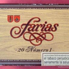 Cajas de Puros: FARIAS 20 NUMERO 1 - CAJA DE CARTON VACÍA DE CIGARROS PUROS. Lote 58142901