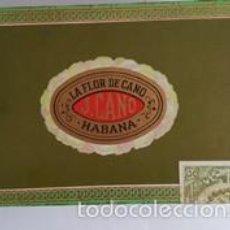 Cajas de Puros: - ANTIGUA CAJA DE PUROS - - LA FLOR DE CANO - J. CANO - HABANA - VACIA - 8 DE OCTUBRE DE 1978 -. Lote 58367029